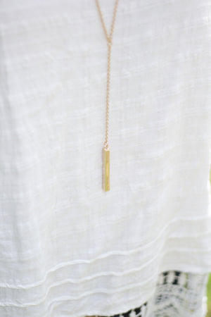 "Janie Necklace Gold   26"", Accessories, The Royal Standard, - Sunny and Southern,"