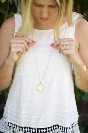 "Addie Necklace Gold   32"", Accessories, The Royal Standard, - Sunny and Southern,"