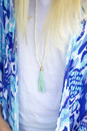 Brynn Tassel Necklace, Accessories, Sunny and Southern, - Sunny and Southern,