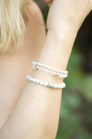 Crystal Beads Elastic Stackable Bracelet Set, Accessories, Sunny and Southern, - Sunny and Southern,