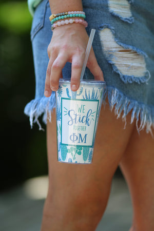 """We Stick Together"" Cactus Greek Sorority Tumbler, Accessories, Sunny and Southern, - Sunny and Southern,"