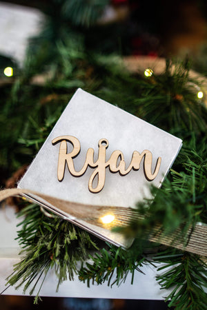 Custom Wood Name Ornament - Ryan Font, Accessories, Sunny and Southern, - Sunny and Southern,