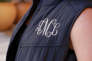 Classic Monogrammed Puffy Vest
