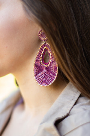 Leah Teardrop Bead Dangle Earring, Accessories, Sunny and Southern, - Sunny and Southern,