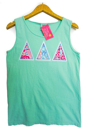 Lilly Greek Double Stitch Comfort Colors Tank Top, Ladies, virgina, - Sunny and Southern,