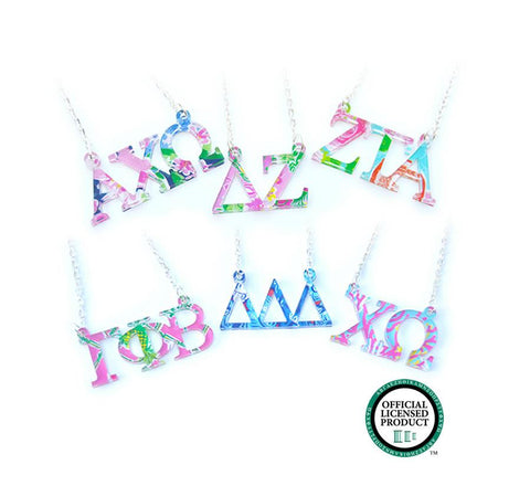 Monogrammed Greek Necklaces - Sunny and Southern