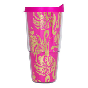 Lilly Pulitzer Monogrammed Double-Walled Tumbler, accessories, Lilly Pulitzer, - Sunny and Southern,