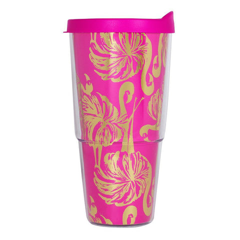 Monogrammed Monogrammed Lilly Pulitzer Double-Walled Tumbler - Sunny and Southern - 1