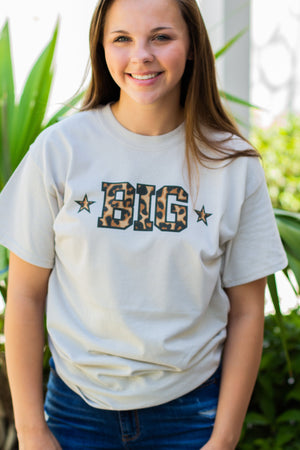 Into the Wild - Cheetah Print Big Little Gildan Short Sleeve, Ladies, Sunny and Southern, - Sunny and Southern,