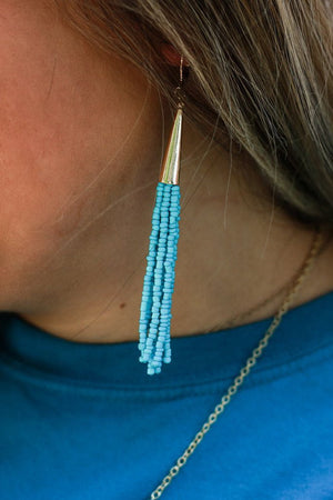 Gold Tassle Earrings, Accessories, Sunny and Southern, - Sunny and Southern,