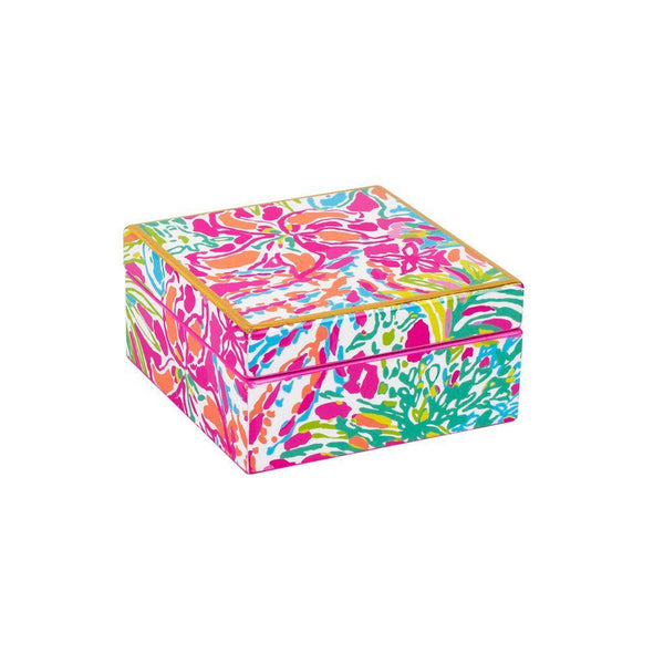 Monogrammed Lilly Pulitzer Lacquer Box - Sunny and Southern - 2