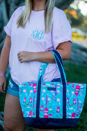 Classic Monogrammed Simply Southern Paddle Boat Tote, Accessories, Simply Southern, - Sunny and Southern,