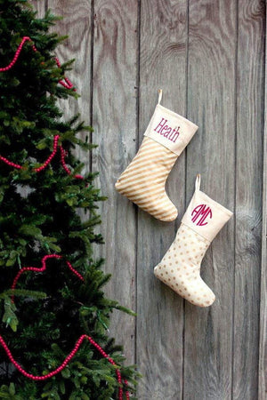 Embroidered Name Stocking, , Sunny and Southern, - Sunny and Southern,