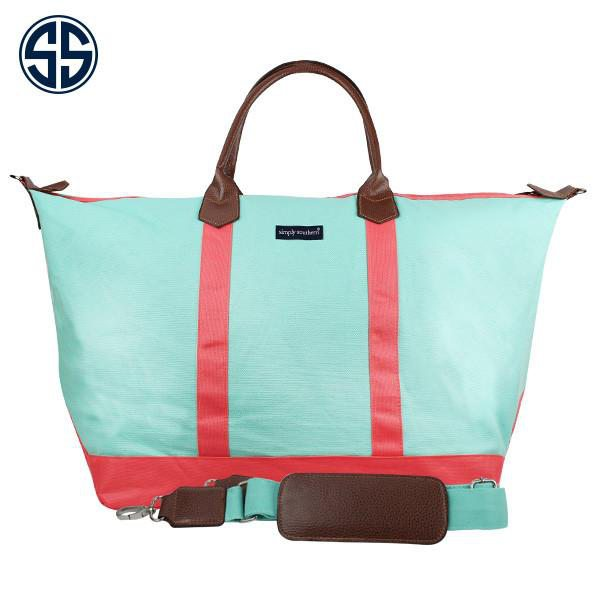 Classic Monogrammed Weekender Simply Southern Tote Bag, Accessories, Simply Southern, - Sunny and Southern,