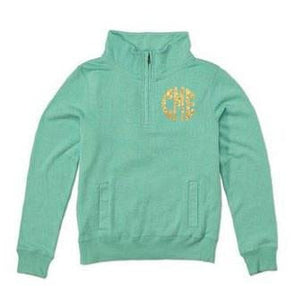 Classic Monogrammed Ladies Spring Quarterzip Jacket, Ladies, virgina, - Sunny and Southern,
