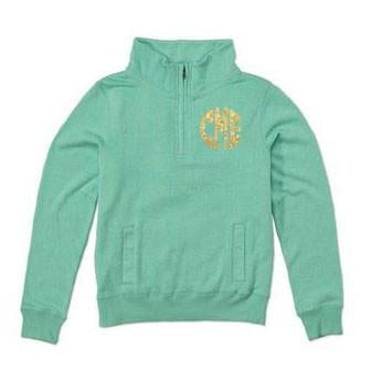 Monogrammed Monogrammed Ladies Spring Quarterzip Jacket - Sunny and Southern - 1