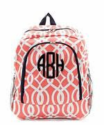 Monogrammed Monogrammed Canvas BackPack Vine - Sunny and Southern - 1