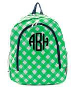 Monogrammed Monogrammed Canvas BackPack Plaid - Sunny and Southern - 1