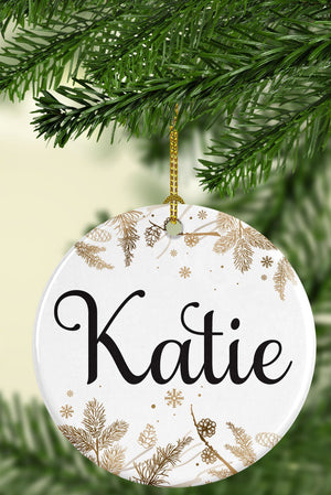 Personalized Name Ceramic Ornament