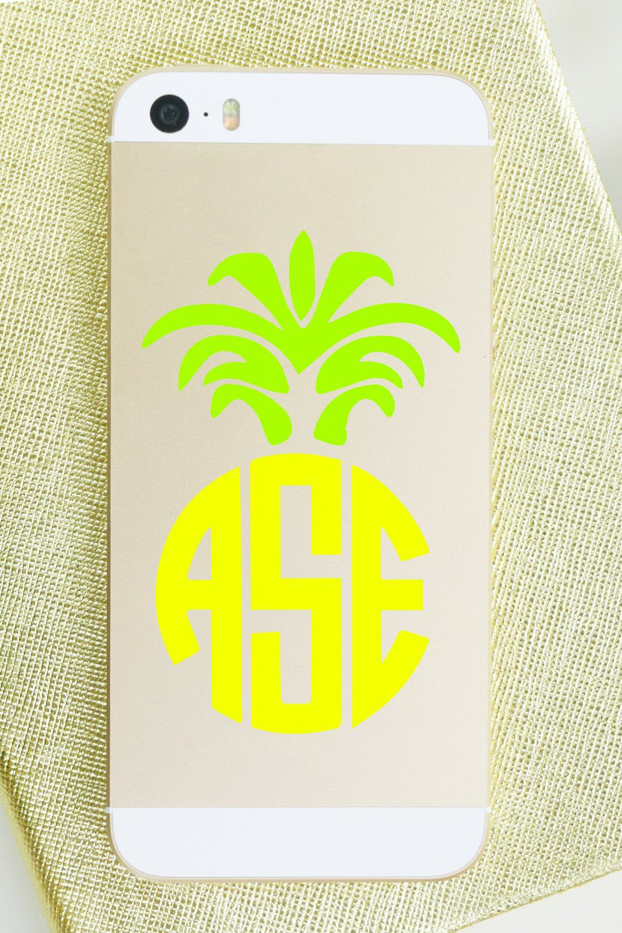 Monogram Vinyl Decal Pineapple, Accessories, Sunny and Southern, - Sunny and Southern,