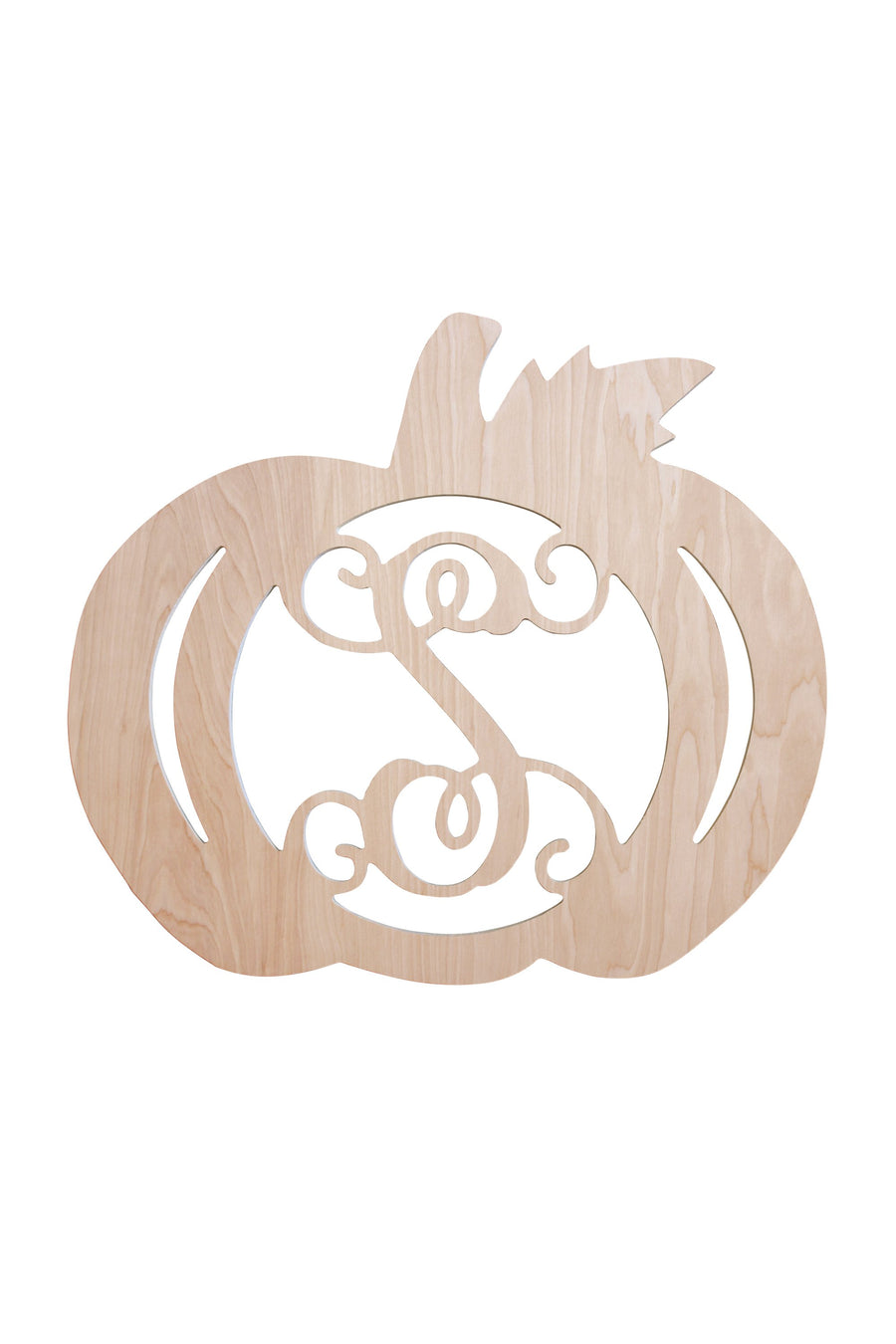 18 in Pumpkin Wood Monogram, Home, WB, - Sunny and Southern,
