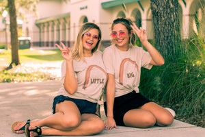 Retro Rainbow, Trendy, Stars, Big Little Shirts and Tanks, Cute Big Little Shirts and Tanks, Trendy Big Little Shirts and Tanks