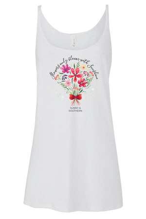 Flowers Only Bloom with Sunshine Tank - Bella Slouchy, Ladies, Sunny and Southern, - Sunny and Southern,