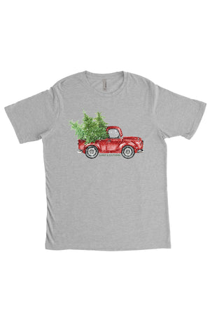 Red Truck Christmas Next Level Unisex Poly/Cotton Crew, Ladies, Sunny and Southern, - Sunny and Southern,