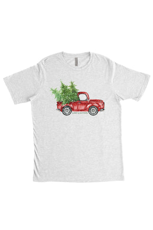 Red Truck Christmas Next Level Unisex Poly/Cotton Crew