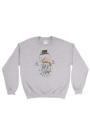Let it Snow Gildan Crew Neck Sweatshirt, Ladies, Sunny and Southern, - Sunny and Southern,