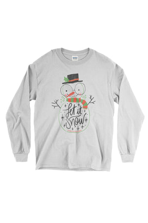 Let it Snow White Gildan Long Sleeve, , Sunny and Southern, - Sunny and Southern,