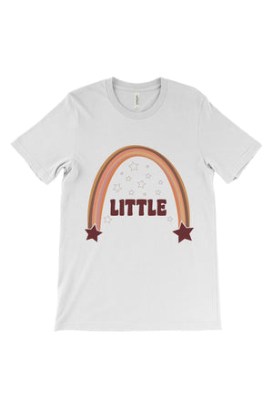 Retro Rainbow Big Little Bella Canvas Short Sleeve Unisex Tee