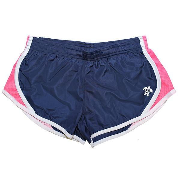 Simply Southern Pink Navy Running Shorts, ladies, Simply Southern, - Sunny and Southern,