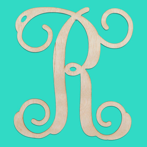 Monogrammed Single Initial Wood Monogram - Sunny and Southern - 1
