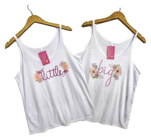 Floral Big, Little, Gbig, GGbig, Bella Canvas Tanks, Ladies, virgina, - Sunny and Southern,