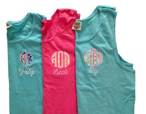 Monogrammed Monogramed Lilly Unisex Tank Top with Saying Below - Sunny and Southern - 1