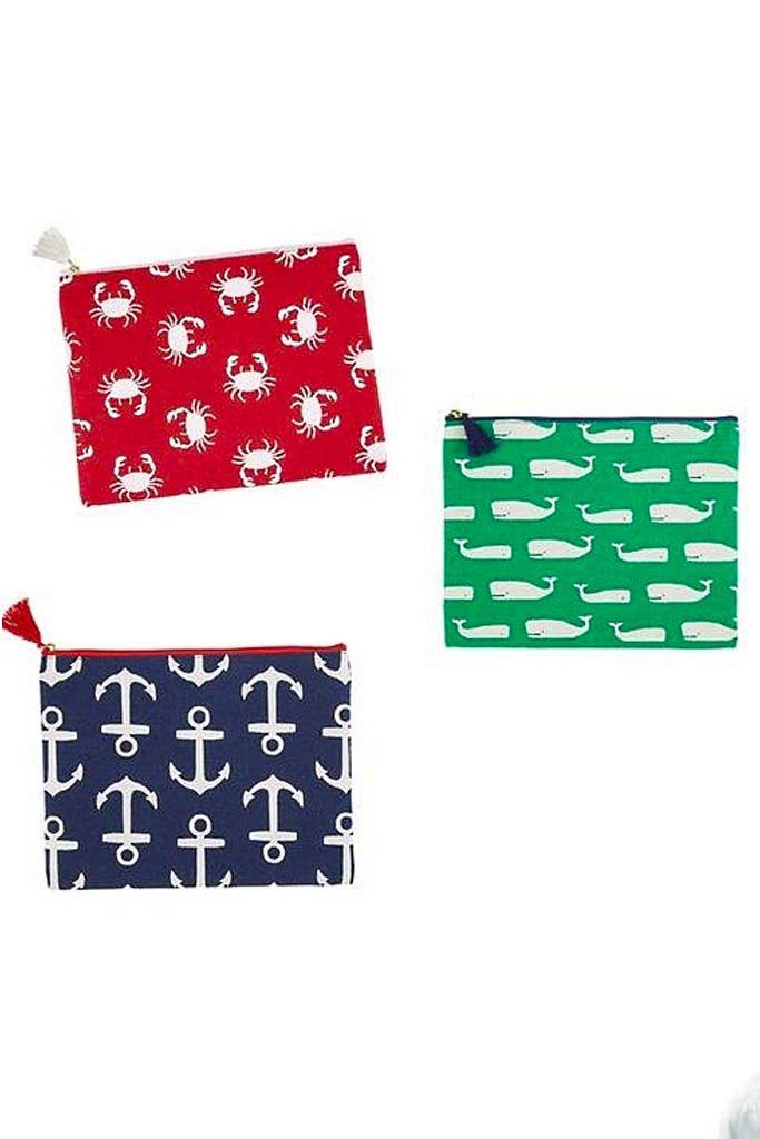 Classic Monogrammed Carry All Case- Whales, Anchors, Crabs, Accessories, Mud Pie, - Sunny and Southern,