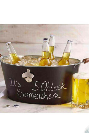 Monogrammed ChalkBoard Beverage Tub, Home, Mud Pie, - Sunny and Southern,