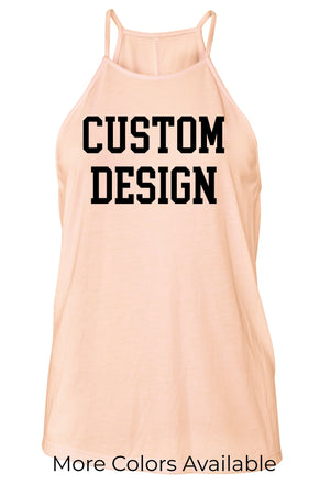 Custom Designed Shirt Ladies Flowy High Neck Tank, Ladies, Sunny and Southern, - Sunny and Southern,