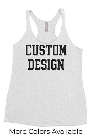 Custom Designed Shirt Bella Rough Cut Racer Back Tank, Ladies, virgina, - Sunny and Southern,