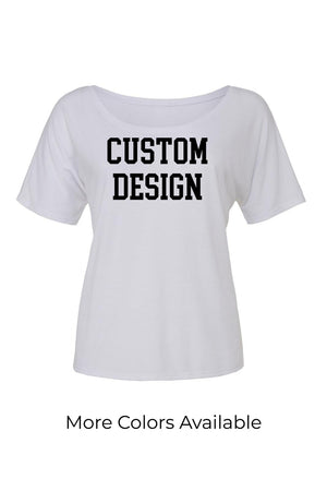 Custom Designed Shirt Bella Canvas Ladies Slouchy Scoop Neck Tee, Ladies, Sunny and Southern, - Sunny and Southern,