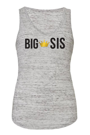 Big Little Custom Object 'Lil and Big Bella Canvas Flowy V-Neck Tank, Ladies, Sunny and Southern, - Sunny and Southern,