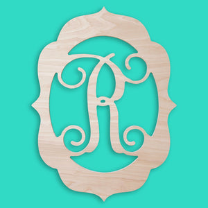 18 Inch Fancy Wood Monogram, Home, WB, - Sunny and Southern,