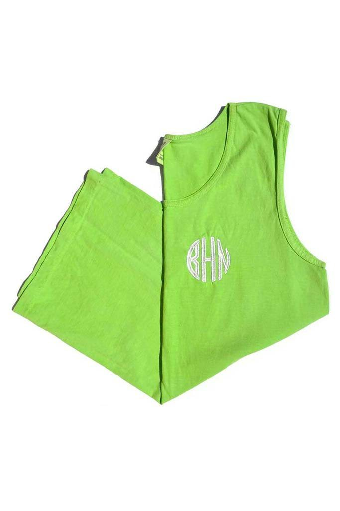 Monogrammed Tank Top, Ladies, Sunny and Southern, - Sunny and Southern,
