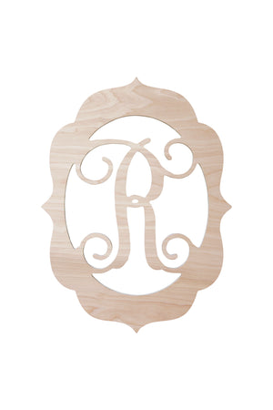 18 Fancy Wood Monogram, Home, WB, - Sunny and Southern,