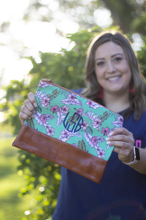 Classic Monogrammed Hawaii Cosmetic Bag, Accessories, domil, - Sunny and Southern,