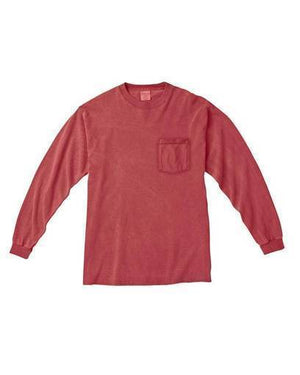 Classic Monogrammed Long Sleeve Pocket Tee, Ladies, virgina, - Sunny and Southern,