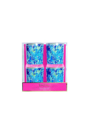 Lilly Pulitzer Acrylic Lo-Ball Glass Set, Accessories, Lilly Pulitzer, - Sunny and Southern,