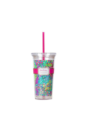 Lilly Pulitzer Monogrammed Tumbler with Straw, accessories, Lilly Pulitzer, - Sunny and Southern,