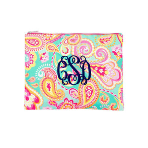 Monogrammed Zip Pouch, Accessories, WB, - Sunny and Southern,
